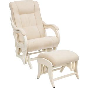 Milli Комплект Кресло для кормления и укачивания + пуф Style дуб шампань, ткань Verona vanilla пуф кресло пуфофф night town