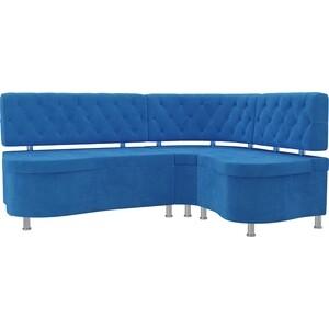 Кухонный угловой диван АртМебель Вегас велюр голубой правый угол диван угловой диван вегас правый вегас