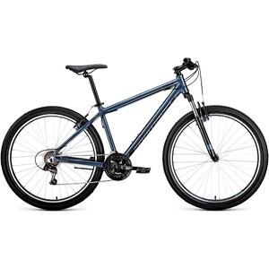 Велосипед Forward APACHE 27,5 1.0 (рост 17) 2020, серый/черный велосипед forward apache 1 0 2017