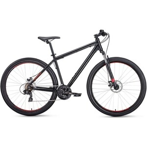 Велосипед Forward APACHE 27,5 2.0 disc (рост 17) 2020, черный мат. велосипед forward apache 1 0 2017