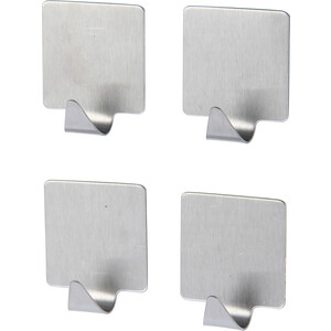 Крючок Fora квадратный на липкой ленте (4 шт)