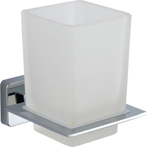 Стакан для ванной комнаты Fora STYLE стеклянный, матовый