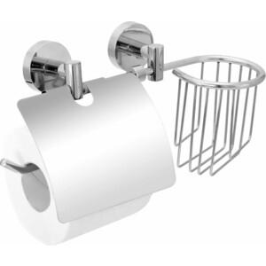 Держатель для туалетной бумаги Fora Long с полкой освежителя воздуха двумя крепежами