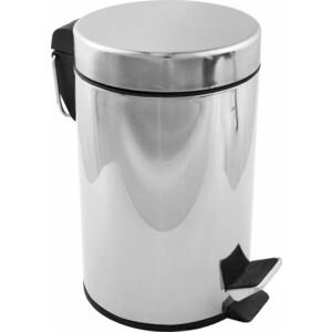 Ведро Fora для мусора с педалью хром 3л ведро для мусора plastic centre с педалью цвет мраморный темно серый 6 л