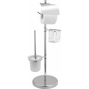 Ерш Fora напольный на подставке с держателем для туалетной бумаги и дезодоранта