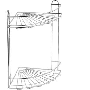 Полка Fora Romia для ванной комнаты и кухни угловая двойная