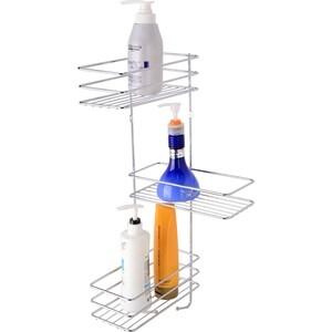 Полка Fora Optima для ванной комнаты и кухни угловая тройная