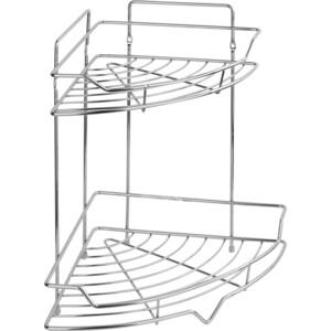 Полка Fora Corsa для ванной комнаты и кухни угловая двойная Сектор 35*26*26см