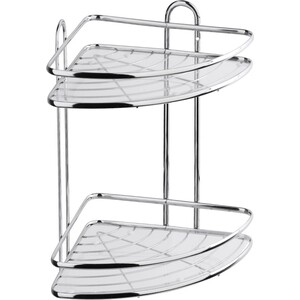 Полка Fora Floria для ванной комнаты и кухни угловая двойная 258*258*335см