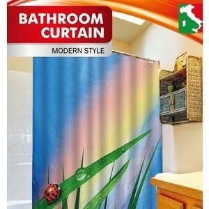 Шторка Fora для ванной Божья коровка шторка для ванной creative bath seaside s1211mult