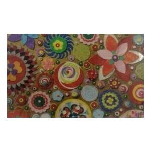Коврик Fora придверный грязезащитный фотопринт ''Бумажные цветы'' 40*60см