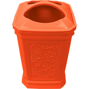 Стакан Fora London для зубных щёток настольный оранжевый