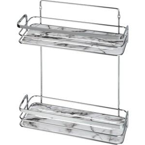 Полка Fora Marble для ванной комнаты двойная