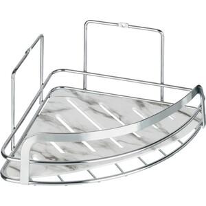 Полка Fora Marble для ванной комнаты угловая одинарная