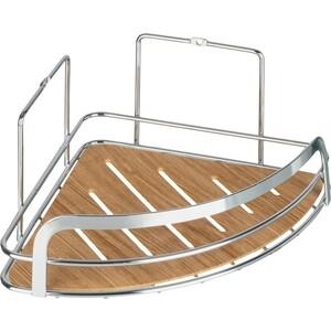 Полка Fora Wood для ванной комнаты угловая одинарная