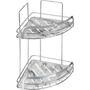 Полка Fora Marble для ванной комнаты угловая двойная