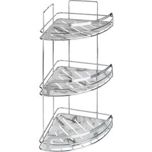 Полка Fora Marble для ванной комнаты угловая тройная