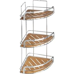 Полка Fora Wood для ванной комнаты угловая тройная