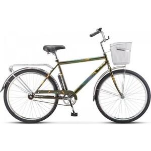 Велосипед Stels Navigator 200 Gent 26 Z010 (2020) 19 оливковый (С КОРЗИНОЙ) велосипед stels pilot 200 gent 20 v021 2017