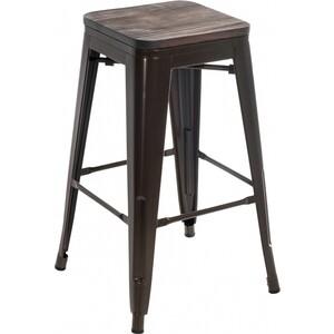 Барный стул Woodville Tolix Bar wood CColl T-2103B-26 bronze/brown walnut