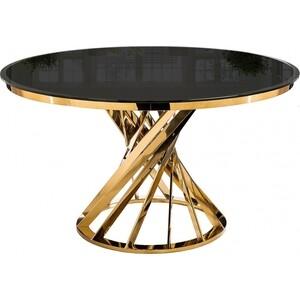 Стол Woodville Twist gold/black