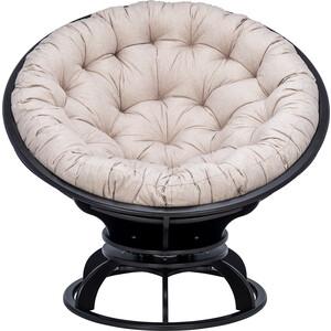 Кресло вращающееся Мебель Импэкс Папасан с подушкой венге, подушка Tesla beige