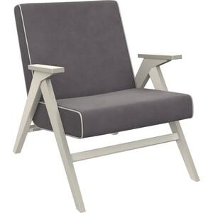 Кресло для отдыха Мебель Импэкс Вест дуб шампань ткань Verona antrazite grey, кант light grey