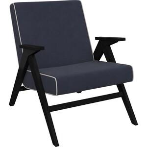 Кресло для отдыха Мебель Импэкс Вест венге ткань Verona denim blue, кант light grey