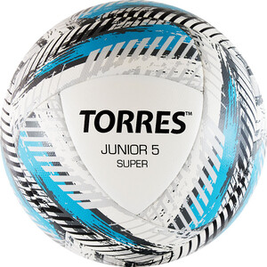 Мяч футбольный Torres Junior-5 Super арт. F319205, р.5, вес 350-370 г, ПУ,2 сл,16 п, гиб.сш,бел-гол-сер