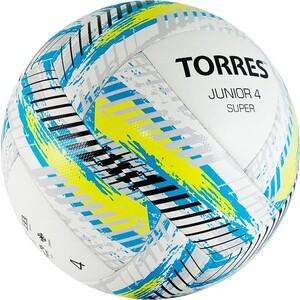 Мяч футбольный Torres Junior-4 Super арт. F319204, р.4, вес 290-320 г, ПУ, 2 сл, 16п, гиб.сш, бел-жел-гол