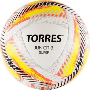 Мяч футбольный Torres Junior-3 Super арт. F319203, р.3, вес 280-310 г, ПУ, 2 сл, 16 п,гиб.сш,бел-крас-жел жен блуза арт 16 0316 белый р 46
