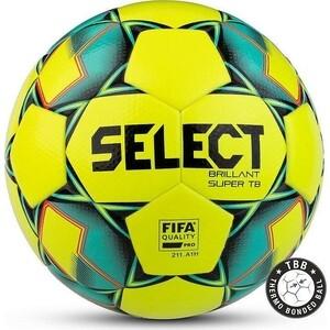 Мяч футбольный Select Brillant Super FIFA TB YELLOW арт. 810316-554,р.5, FIFA, 32п,термосш, жел-зел-черн