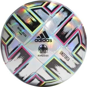 цена на Мяч футбольный Adidas UNIFORIA Training арт. FH7353, р.5, 18п,ТПУ, маш.сш,серебристо-черно-сине-розовый