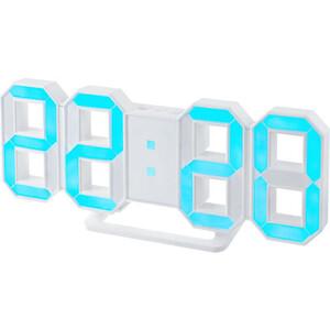 цена Часы-будильник Perfeo LUMINOUS белый корпус / синяя подсветка (PF-663) онлайн в 2017 году