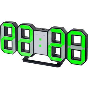 цена Часы-будильник Perfeo LUMINOUS черный корпус / зелёная подсветка (PF-663) онлайн в 2017 году