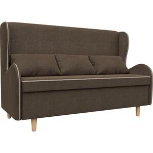 Кухонный прямой диван АртМебель Сэймон рогожка коричневый