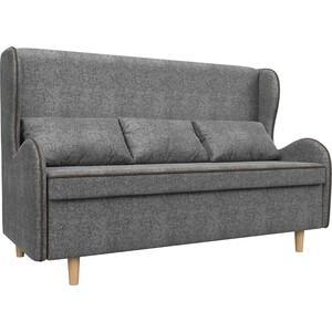 Кухонный прямой диван АртМебель Сэймон рогожка серый