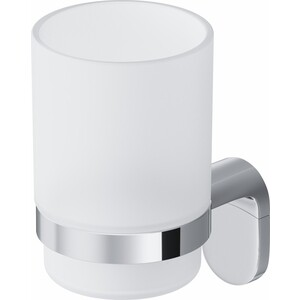 Стеклянный стакан с настенным держателем Am.Pm Joy (A8434300)