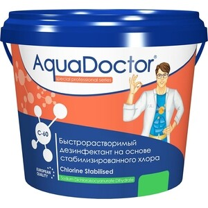 ХЛОР AquaDoctor AQ1551 50кг ведро гранулы быстрорастворимый на основе 60% активного а (C-60/50KG)
