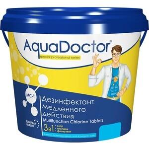 ХЛОР AquaDoctor AQ15972 Комбинированное средство 3 в 1 кг табл.200гр альгицид против водорослей флокулянт