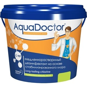 ХЛОР AquaDoctor AQ2489 5кг ведро табл.200гр медленнорастворимый на основе 90% активного а (C-90T/5KG)