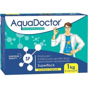 ФЛОКУЛЯНТ AquaDoctor AQ2499 1кг коробка табл.8х(5х25)гр коагулирующий препарат медленнорастворимый0