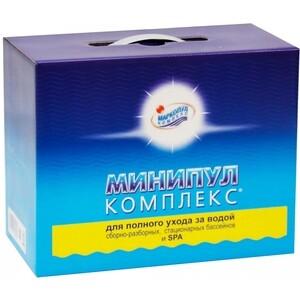 МИНИПУЛ КОМПЛЕКС Маркопул Кемиклс М22 6кг коробка набор химии 5 в 1 для полного ухода за бассейном от 10 до 30м3