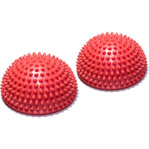 Полусфера Original FitTools массажно-балансировочная (2 шт) красный