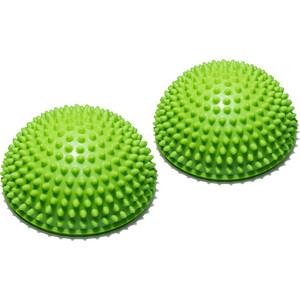 Полусфера Original FitTools массажно-балансировочная (2 шт) зеленый