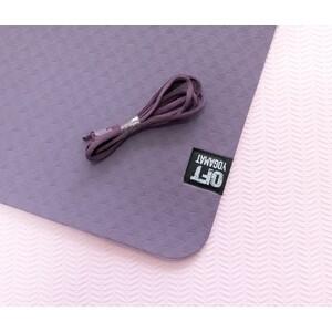 Мат для йоги Original FitTools 6 мм двухслойный темно-фиолетовый светло-фиолетовый