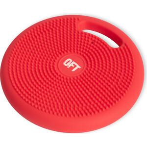 Массажно-балансировочная подушка Original FitTools с ручкой красная