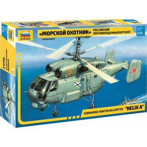 Сборная модель Звезда Российский противолодочный вертолет Морской охотник, 1/72 - ZV - 7214 сборная модель zvezda российский вертолет огневой поддержки морской пехоты ка 29 7221pn 1 72
