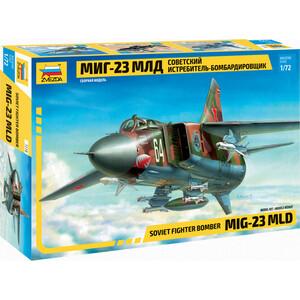 цена на Сборная модель Звезда Советский истребитель - бомбардировщик МиГ - 23МЛД, 1/72 - ZV - 7218