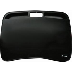 BRAUBERG Подставка-столик с мягкими подушками, для ноутбука и творчества черный 512668